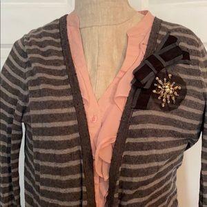 Sweaters - Jeweled Grey Cardigan